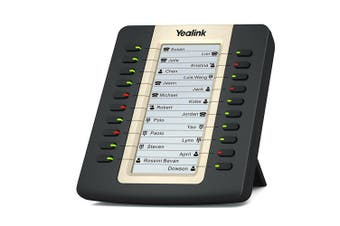 YEALINK EXP20 expansion board for SIP-T27P/SIP-29G, LCD screen, 20 Dual LED's. Supports up to 6 units