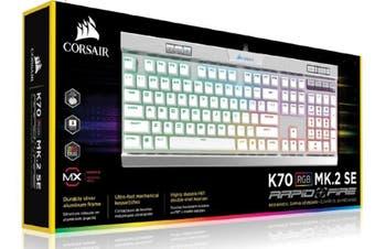 CORSAIR K70 MK.2 MX Speed RGB Backlit RGB LED, Mechanical Brushed Aluminum frame Keyboard. Leader VIP Exclusive