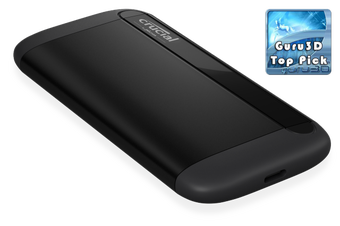 MICRON (CRUCIAL) X8 1TB External Portable SSD ~1050MB/s USB3.2 USB-C USB3.0 USB-A Durable Rugged Shock Proof for PC MAC PS4 Xbox Android iPad Pro