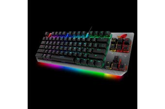 ASUS X802 STRIX SCOPE TKL/BL TKL Wired Mechanical RGB Gaming Keyboard For FPS Games, Cherry MX Switches, Aluminum Frame, Aura Sync Lighting
