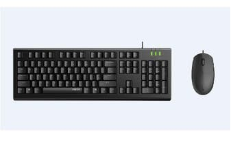 RAPOO X120pro - Wired Keyboard and Mouse Combo Optical Combo Black / 1600dpi / Spill Resistant
