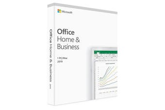 MICROSOFT Office Home and Business 2019 Medialess - 1 User for PC & Mac