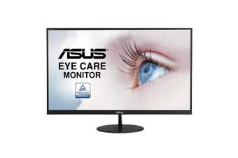 ASUS VL279HE 27' Eye Care Monitor FHD (1920x1080), IPS, 75Hz, 5ms, Slim, Frameless, FreeSync, Flicker Free, Low Blue Light, VESA 100mm, HDMI/D-Sub