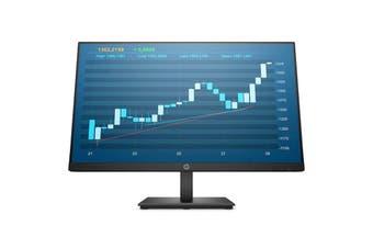 HP P244 23.8' FHD LED IPS Anti-Glare 1920X1080 DisplayPort, VGA, HDMI Tilt Adjustment 3YR WTY MONITOR