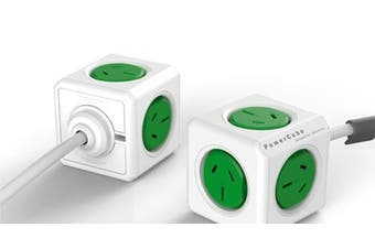 ALLOCACOC POWERCUBE Extended 5 Outlets, 3M – Green (LS)