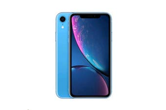 APPLE iPhone XR 64GB Blue - Apple iPhone with 6.1' Retina Display, iOS 12, A12 Bionic Chip, 64GB memory, 12MP Camera, IP67 Water and Dust Resistance