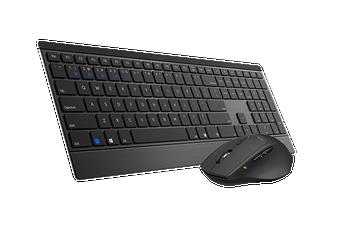 RAPOO 9500M Bluetooth & 2.4G Wireless Multi-mode Keyboard Mouse Combo Black - 1300DPI 4.5mm Ultra-Slim