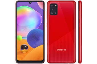 SAMSUNG Galaxy A31 128GB CRUSH RED - 6.4' Screen Size, Dual Sim, Octa Core Processor, Quad Camera, 128GB Inbuilt Memory exp to 512GB Via MicroSD Card
