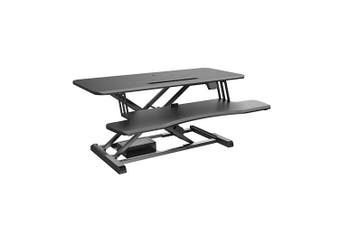 BRATECK Electric Sit-Stand Desk Converter with Keyboard Tray Deck (Standard Surface) Worksurface Up to 20kg