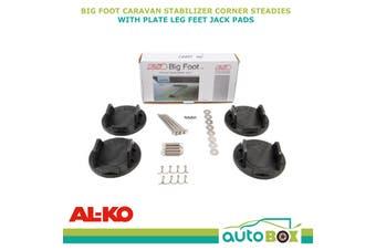 AL-KO Big Foot Caravan Stabilizer Corner Steadies & Plate Leg Feet Jack Pads