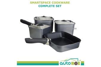 Cookware Smartspace Complete Pot Set Frying Pan Handle Caravan Camping Outdoor