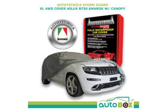Car Cover Dual Cab 4WD Ute Stormguard Waterproof Hilux BT50 Amarok with Canopy