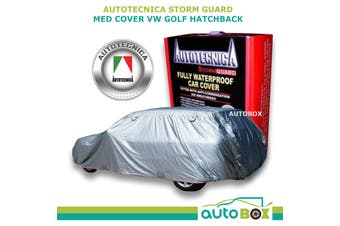 Autotecnica Medium Car Cover Stormguard Waterproof Fleece GTI VW Golf Hatchback