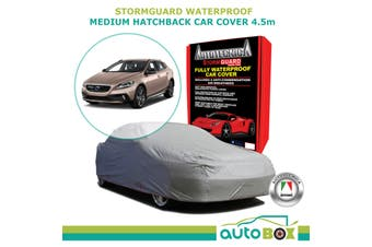 Medium Hatchback Car Cover 4.5m Volvo V40 Stormguard Waterproof Fleece w/ Bag