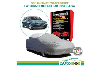 Medium Hatchback Car Cover 4.5m Holden Astra Cruze Stormguard Waterproof w/ Bag