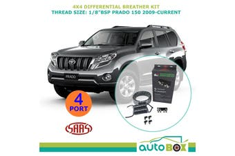 SAAS 4WD DIFF BREATHER KIT 4 Port suit TOYOTA PRADO 150 2009-Current All Models