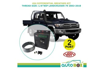 SAAS 2 PORT 4WD DIFF BREATHER KIT suit TOYOTA LANDCRUISER 79 2002-2018 All Model