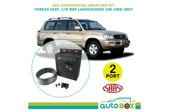 SAAS 2 PORT 4WD DIFF BREATHER KIT suit TOYOTA LANDCRUISER 100 1998-07 All Models