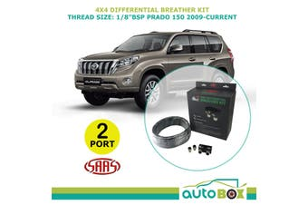 SAAS 2 PORT 4WD DIFF BREATHER KIT suit TOYOTA PRADO 150 2009-Current All Models