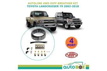 SAAS Autoline 4WD DIFF BREATHER KIT 4 Port for TOYOTA LANDCRUISER 79 2002-2018