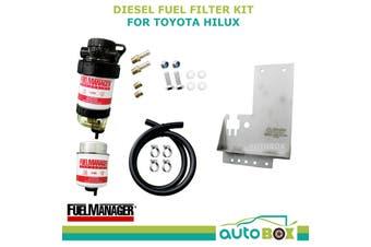 Diesel Fuel Filter Water Separator Toyota Hilux KUN26 3.0L mount bracket 2005-15