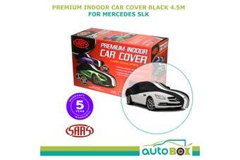 SAAS TWIN STRIPE BLACK INDOOR DUST SHOW CAR COVER MEDIUM 4.5m fits Mercedes SLK