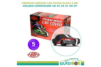 SAAS BLACK 5.0m SHOW CAR COVER INDOOR DUST Holden Commodore VB VC VK VL VN VP