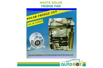 Solar Fridge White Cooling Air Fan Caravan Camper Motorhome RV Boat 4WD Camping
