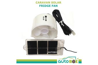 Caravan White Solar Fridge Cooling Fan Camping Camper Motorhome RV Home Cool Air