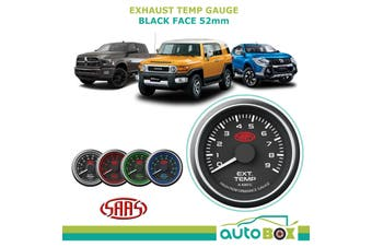 SAAS Black Dial Face 0-900 Degrees Exhaust Temperature Gauge 52mm EGT Pyro 4WD