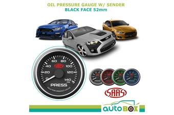 SAAS 0-140 PSI OIL PRESSURE GAUGE Black Face w/ SENDER Falcon AU BA BF FG FPV