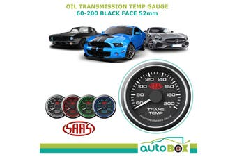 SAAS Transmission Oil Temperature Temp 60-200 Performance Gauge Black Face 52mm