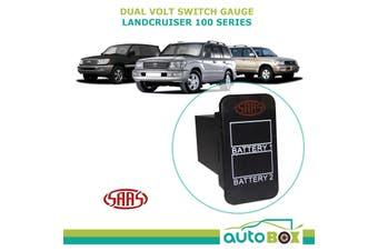 SAAS Dual Battery Volt Switch Gauge Digital Gauge fit Toyota Landcruiser 100 Ser