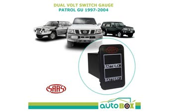 SAAS Dual Battery Volts Switch Gauge Digital Gauge suits Nissan GU Patrol 97-04