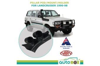 Pillar Pod Holder Gauge Mount  Black suit Toyota Landcruiser 80 Series 1990-1998