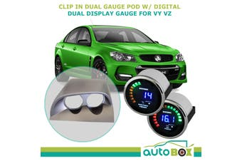 VY VZ Commodore Clip-in Gauge Pod w/ Digital Dual Water Temp & Oil Press Gauges