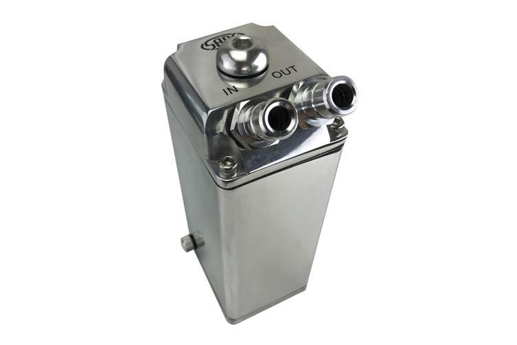 SAAS Baffled Oil Catch Can 600cc Billet Polished Aluminium Alloy Tank Mount Kit
