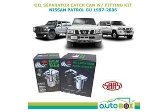 SAAS Oil Separator Catch Can for Nissan Patrol GU 4.2L TD42T 1997-2006