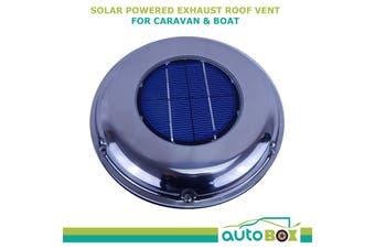 Solar Powered Steel Caravan Boat Camper Canopy Exhaust Roof Fan Vent w/ Battery