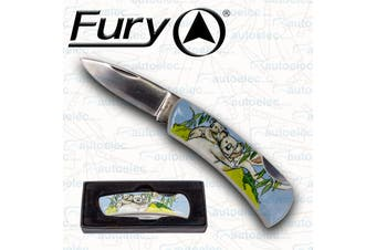 Fury Hunting Camping Pocket Knife Drop Point Blade