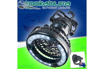 Kookaburra Portable Tent Fan LED Lantern