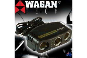 Wagan Triple Adapter 12V Cigarette Lighter Socket