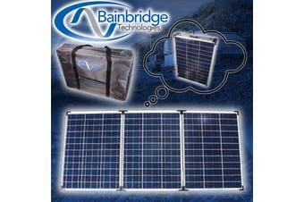 Baintech 12V 150W Watt Folding Solar Panel Battery Charger  Caravan Camping Agm