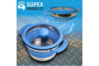 Supex 1L Blue Silicone Collapsible Pot