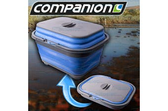 Companion Collapsible Dish & Cutlery Tray with Lid & Drain Plug