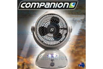 Companion Rechargeable Portable Swing Fan with LED Light