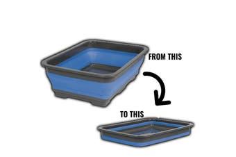 Companion Blue Silicone 7L Collapsible Camp Wash Tub