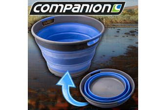 Collapsible Blue Silicone Camping Laundry Tub