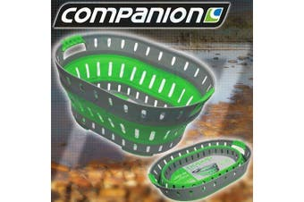 Collapsible Green Silicone Camping Laundry Tub