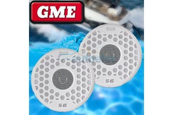 GME S6 White Waterproof Marine Audio Speakers